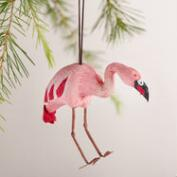 Paper Flamingo Ornament, Set of 2