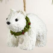 Paper Polar Bear with Wreath