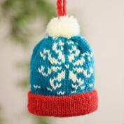 Mini Knit  Hat Ornaments, Set of 3