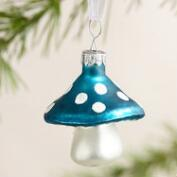 Glass Mushroom Ornaments, Set of 3