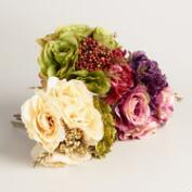 Rose and Hydrangea Bunches, Set of 3
