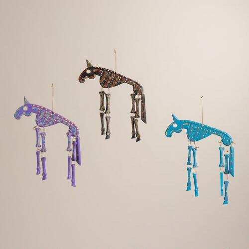 Bright Wood Horse Wall Decor, Set of 3