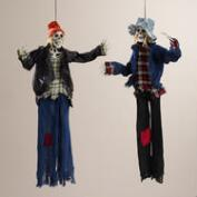 Skeleton Carny Figures, Set of 2