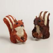 Mini Natural Fiber Chipmunks, Set of 2