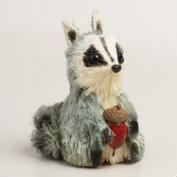 Mini Natural Fiber Raccoons, Set of 2