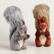 Bushy Tail Squirrels, Set of 2