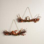 Fox and Hedgehog Swag Wreaths, Set 2