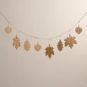 Laser-Cut Wood Leaf Garland