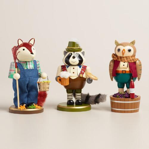 Animal Nutcrackers,  Set of 3