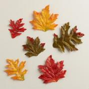 Glittered Autumn Leaf Scatters, Set of 2