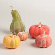 Bag of Whitewashed Gourds, Set of 5