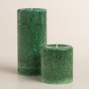Green Cedar Pine Pillar  Candle