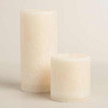 Ivory Vanilla Bean Pillar Candle