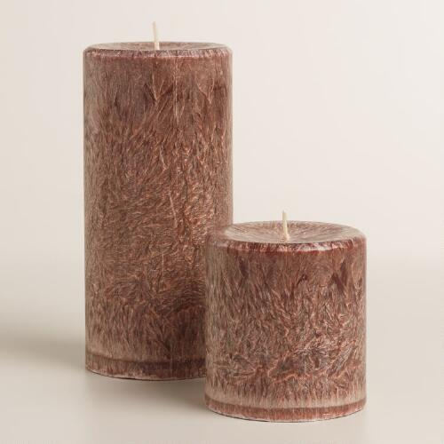 Brown Cinnamon Stick Pillar Candle