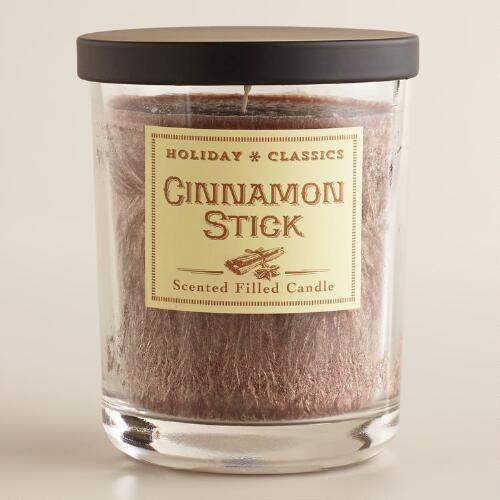 Brown Cinnamon Stick Filled Jar Candle