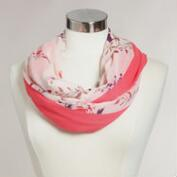 Oversized Coral Floral Infinity Scarf