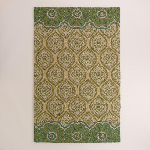 Green Tufted Clementine Area Rug