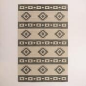 5'x8' Gray Wool Kilim Mudrita Floor Runner