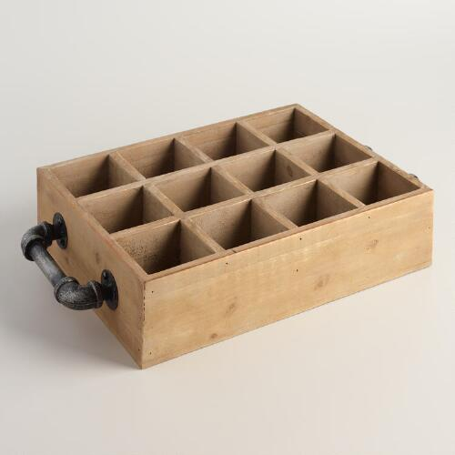 12-Bottle Wine Box with Handles