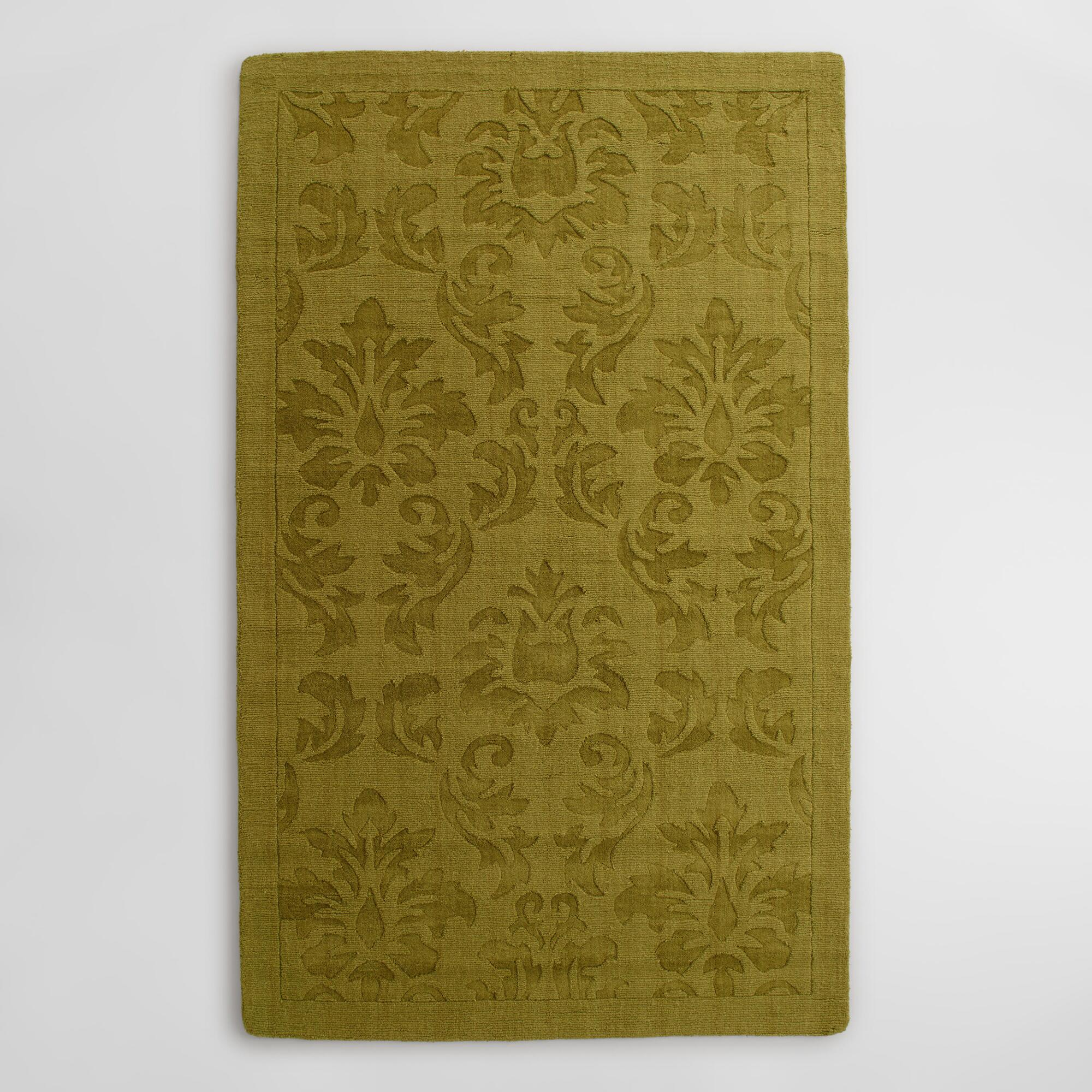 Sprout Floral Carved Wool Adele Area Rug World Market