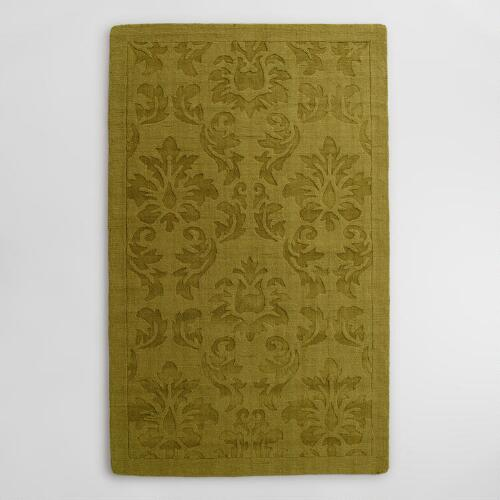 Sprout Floral Carved Wool Adele Area Rug