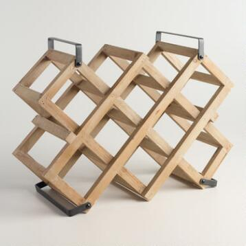 Accordion 9-Bottle Wine Rack