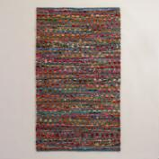 3'x5' Multicolor Chindi Area Rug