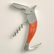 Wood and Stainless Steel Bird Corkscrew