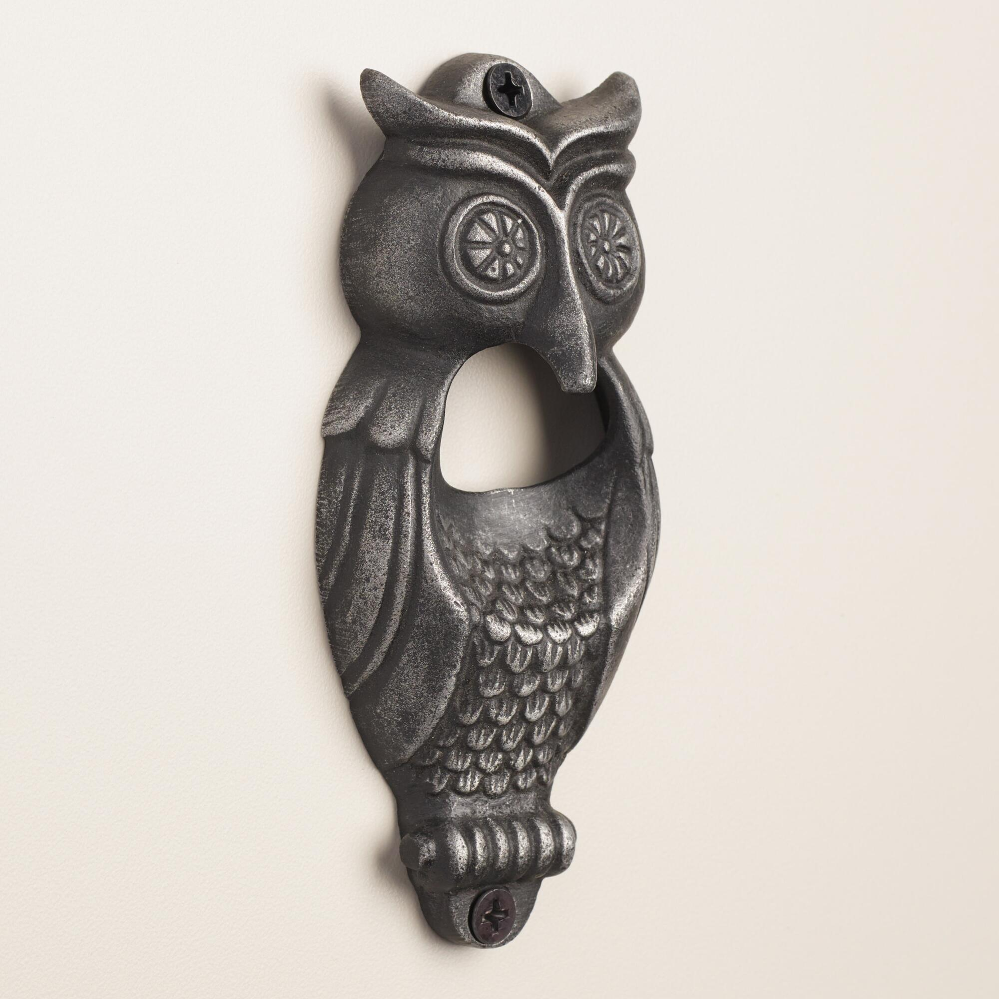 cost plus world market owl wall mounted bottle opener by world market shop your way online. Black Bedroom Furniture Sets. Home Design Ideas