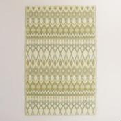 Yellow and Gray Kilim Urban Floor Mat