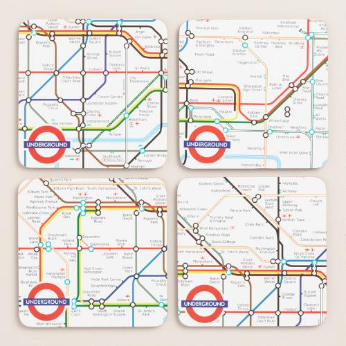 London Tube Coasters, 4-Pack