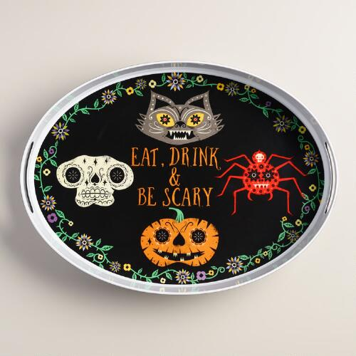 Eat, Drink and Be Scary Melamine Serving Tray