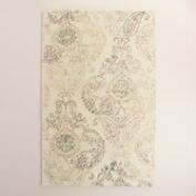 Ivory Tufted Wool Claudia Area Rug