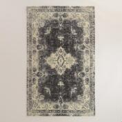 5'x8' Black Tufted Leila Area Rug