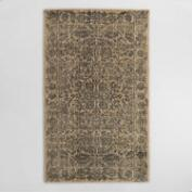 Blue and Gray Floral Tufted Wool Sapphire Area Rug