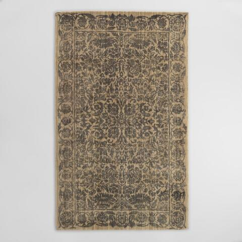 Gray Floral Tufted Wool Sapphire Area Rug World Market