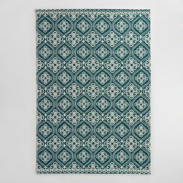 Medallion Print Reversible Yasmin Area Rug