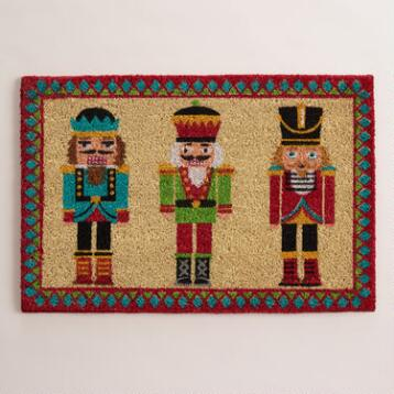 Nutcracker Holiday Doormat