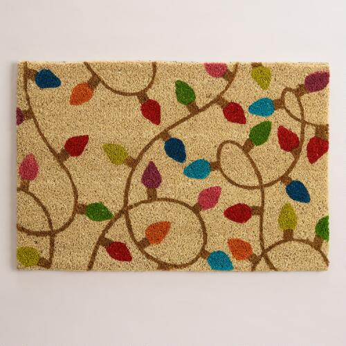 Holiday Lights Doormat