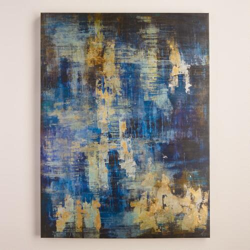 """Blue and Gold Abstract"" by Liz Jardine"