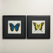 Butterfly Newsprint Wall Art by Stacey Powell, Set of 2