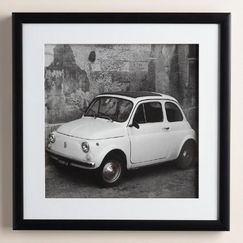 """Black and White Vintage Fiat"" by Tony Koukos"