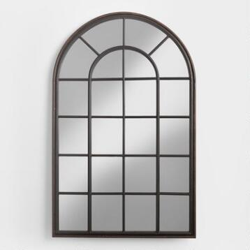 Large mirrors and leaning floor mirrors world market for Window mirrors for sale