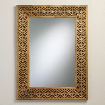 Natural Carved Floral Nalini Mirror