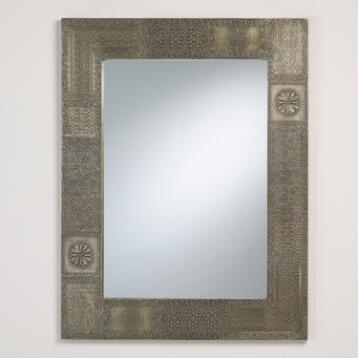 Pewter Patchwork Maya Mirror