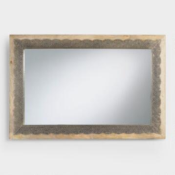 Metal Scalloped Inlay Kali Mirror