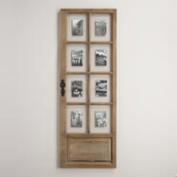 Natural Windowpane Door 8-Photo Frame
