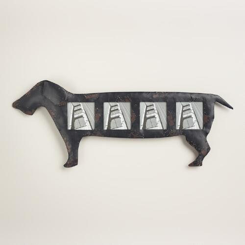 Black Dachshund 4-Photo Frame