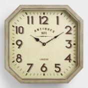 Hexagonal Metal Allston Wall Clock