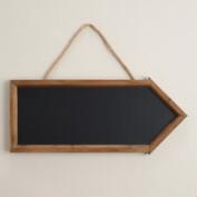 Natural Wood Arrow Chalkboard
